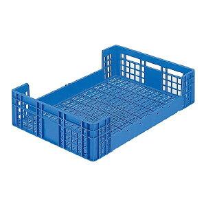 三甲(サンコー) 全面網目コンテナボックス/サンテナー 【Dタイプ】 オープン形状 D120 ブルー(青) 青