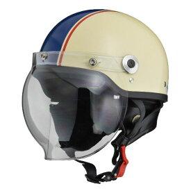 リード工業 (LEAD) バブルシールド付ハーフヘルメット CR760 アイボリー/NE フリー
