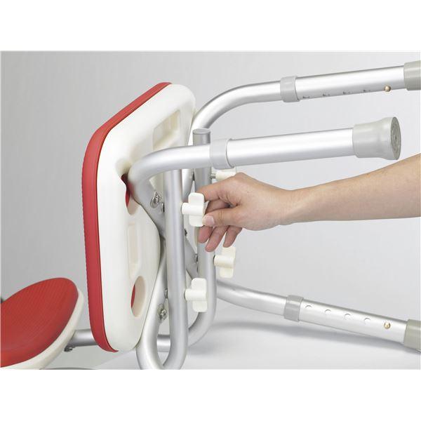 【送料無料】アロン化成 シャワーチェア 安寿背付シャワーベンチMini レッド 536-172( チェア イス 椅子 レッド 赤 )