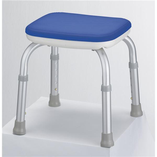 【送料無料】アロン化成 シャワーチェア 安寿シャワーベンチMini(背なし) ブルー 536-180( チェア イス 椅子 ブルー 青 )