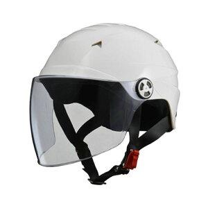 リード工業 (LEAD) シールド付ハーフヘルメット RE40 ホワイト フリー 白