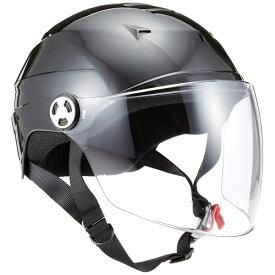 リード工業 (LEAD) シールド付ハーフヘルメット RE41 ブラック LL