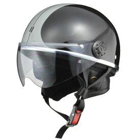 リード工業 (LEAD) ハーフシールド付ハーフヘルメット O-ONE BK/SV フリー
