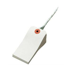 (まとめ) TANOSEE 再生紙針金荷札 4号 45×90mm 1箱(1000枚) 【×3セット】