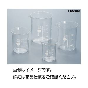 (まとめ)硼珪酸ガラス製ビーカー(HARIO)300ml【×10セット】