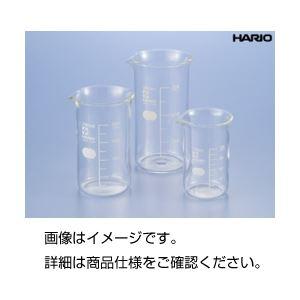 (まとめ)硼珪酸ガラス製トールビーカー100ml(HARIO)【×10セット】