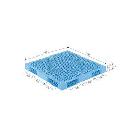 三甲(サンコー) プラスチックパレット/プラパレ 【両面使用型】 段積み可 R4-1515 ライトブルー(青) 青