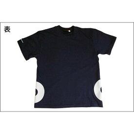 戦国武将Tシャツ 【加藤清正 桔梗紋】 XLサイズ 半袖 綿100% ネイビー(紺) 〔メンズ 大きいサイズ Uネック おもしろ〕