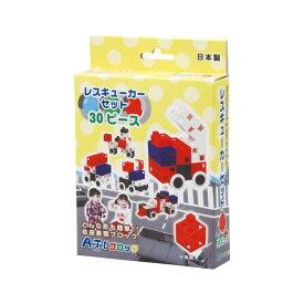 (まとめ) Artecブロック/カラーブロック 【レスキューカーセット】 30pcs 【×15セット】