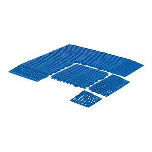 三甲(サンコー) サンスノコ(すのこ 蒸れにくく 通気性が良い 板/敷き板) 310mm×310mm 樹脂製 コーナー #660-2 ブルー(青) 青