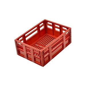 コンテナバスケット(自転車カゴ) 前/後ろ用 【OGK】SPB-001 レトロ アンティーク ヴィンテージ レッド(赤) 〔自転車パーツ/アクセサリー〕 赤