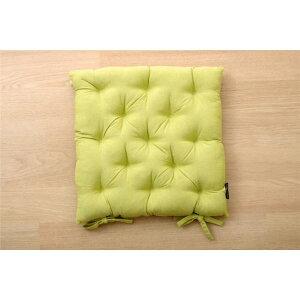 クッション シート 椅子用 綿100% 無地 シンプル 『ルージュ』 グリーン 約40×40cm 2枚組 緑