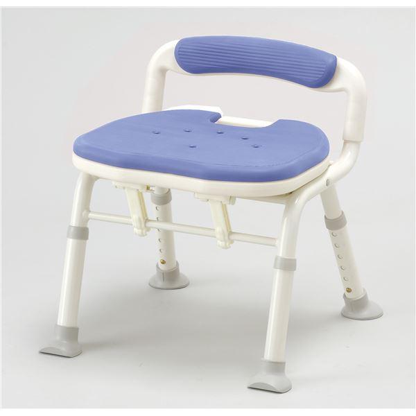 【送料無料】アロン化成 シャワーチェア コンパクト折リタタミシャワーベンチIC骨盤サポート ブルー 536-380( チェア イス 椅子 ブルー 青 )