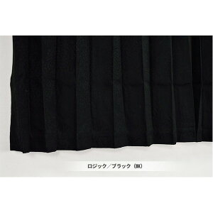 遮熱 遮音 1級遮光 遮光カーテン 目隠し / 2枚組 100×200cm ブラック / 省エネ 『ロジック』 九装 黒