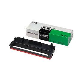 マックス タイムレコーダー用インクリボン 黒・赤 ER-IR102 1個 【×10セット】