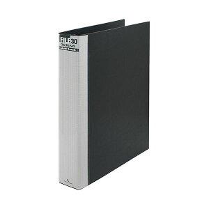 (まとめ) マルマン ダブロックファイル A4タテ 30穴 250枚収容 背幅44mm ブラック F949R-05 1冊 【×10セット】 黒