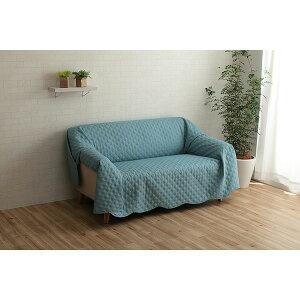 マルチカバー 正方形 約190×190cm ブルー 洗える おしゃれ ベッドスプレッド ソファカバー 赤 青