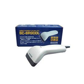 (まとめ)ビジコム バーコードリーダー2アレンジCCD USB ホワイト BC-BR900L-W 1台【×3セット】 白