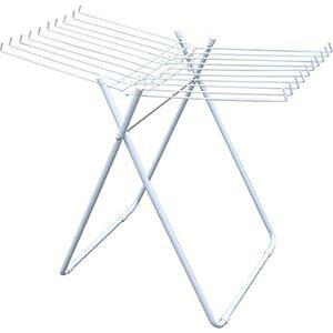 タオルハンガー/洗濯ハンガー 【20本掛け】 折りたたみ ホワイト 室内物干し 洗濯用品 白