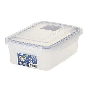(まとめ) 保存容器/ロック式ジャンボケース 【3L】 銀イオン(AG+)配合 抗菌 清潔 仕様 日本製 国産 キッチン 台所 用品 【×24個セット】