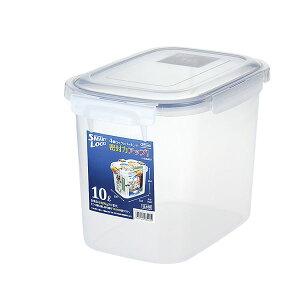(まとめ) 保存容器/ロック式ジャンボケース 【10L】 銀イオン(AG+)配合 抗菌 清潔 仕様 日本製 国産 キッチン 台所 用品 【×16個セット】
