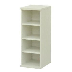 カラーボックス(整理 収納 棚/カスタマイズ家具) 4段 幅30×高さ81.9cm セレクト9030WH ホワイト 白
