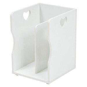 ブックスタンド/本立て 4個セット 【ホワイト A4サイズ対応】 幅24.5cm 木材 仕切り付 〔パソコン PC デスク (テーブル 机) 勉強机 テーブル 〕 白