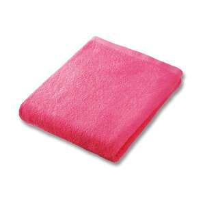 (まとめ)業務用スレンカラーバスタオル ピンク 1枚【×10セット】