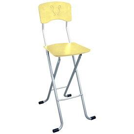 折りたたみ椅子 (イス チェア) 【2脚セット ナチュラル×シルバー】 幅40cm 日本製 国産 金属 スチール パイプ 『レイラチェア (イス 椅子) ハイ』