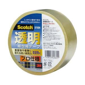 (まとめ)スリーエム ジャパン 透明梱包用テープ 375SN 50巻【×5セット】