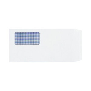 (まとめ)TANOSEE 窓付封筒 裏地紋付 長3 80g/m2 ホワイト 業務用パック 1箱(1000枚)【×3セット】 白