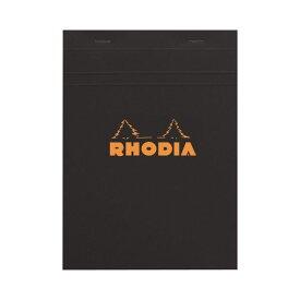 (まとめ) ロディア ブロックロディア No.16210×148mm 5mm方眼 黒 80枚 cf162009 1冊 【×5セット】