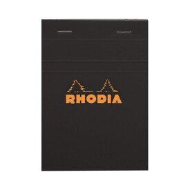 (まとめ) ロディア ブロックロディア No.13148×105mm 5mm方眼 黒 80枚 cf132009 1冊 【×10セット】