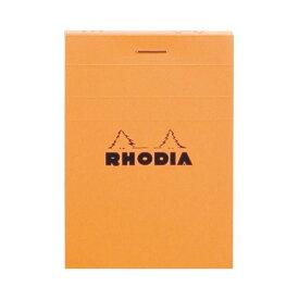 (まとめ) ロディア ブロックロディア No.11105×74mm 5mm方眼 オレンジ 80枚 cf11200 1冊 【×30セット】