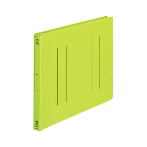 (まとめ) フラットファイル バインダー <PP> 発泡PP A4ヨコ 2穴 収容寸法15mm 黄緑 10冊 【×10セット】