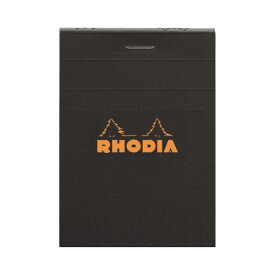 (まとめ) ロディア ブロックロディア No.11105×74mm 5mm方眼 黒 80枚 cf112009 1冊 【×30セット】