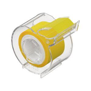 (まとめ)ヤマト メモック ロールテープフィルムタイプ カッター付 25mm幅 イエロー RF-25CH-7N 1個【×20セット】 黄