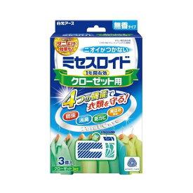 (まとめ)白元アース ミセスロイドクローゼット用 無香 3個入【×30セット】