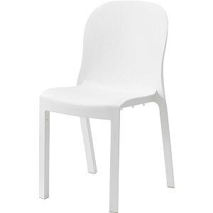 シンプル パーソナルチェア (イス 椅子) /椅子 (イス チェア) 4脚セット 【ホワイト】 幅47cm×奥行53cm×高さ84cm×座面高47cm 〔リビング 店舗〕 白