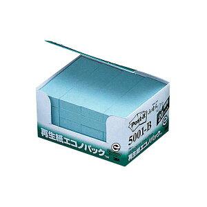 (まとめ) 3M ポスト・イット エコノパックふせん 再生紙 75×25mm ブルー 5001-B 1パック(20冊) 【×5セット】 青