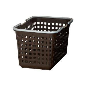 ランドリーバスケット/洗濯かご 【ブラウン 3個セット】 約幅265mm スカンジナビアスタイル バスケットS 〔脱衣所 洗面所〕 茶