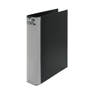 (まとめ) マルマン ダブロックファイル B5タテ 26穴 250枚収容 背幅44mm ブラック F679R-05 1冊 【×10セット】 黒
