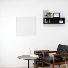 スリムミラー/姿見鏡 【正方形 ホワイト】 壁掛け 幅60×60cm 天然木 木製 フレーム シンプル 日本製 国産 〔玄関 廊下 居間 寝室〕 白