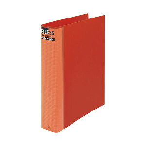 (まとめ) マルマン ダブロックファイル B5タテ 26穴 250枚収容 背幅44mm レッド F679R-01 1冊 【×10セット】 赤