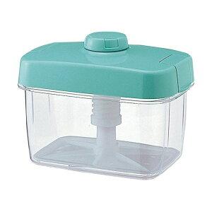 リス ハイペット(漬物容器) 角型 3L グリーン 緑