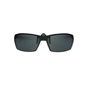 green glass(グリーン グラス) 薄くて軽いクリップサングラス 瞬間サングラス 偏光レンズ【ブラックマット】GR2-003 BKM 黒 緑