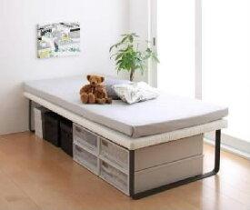 シングルベッド 白 2段ベッド 薄型軽量ボンネルコイルマットレス付き セット 親子ベッド( 幅 :シングル)( 奥行 :レギュラー)( フレーム色 : アイボリー 乳白色 )( 上段ベッド )