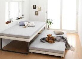 シングルベッド 白 2段ベッド 薄型軽量ボンネルコイルマットレス付き セット 親子ベッド( 幅 :シングル)( 奥行 :レギュラー)( フレーム色 : アイボリー 乳白色 )( 上下段セット )