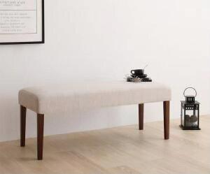 機能系テーブル 机 ダイニング用ベンチ単品 天然木 木製 ウォールナット材 デザイン伸縮ダイニング( ベンチ座面幅 :2P)( 座面色 : ブラウン 茶 )