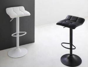 ダイニング用カウンターチェア (イス 椅子) 1脚単品 シンプルモダンコンパクトカウンターダイニング( 座面色 : ブラック 黒 )